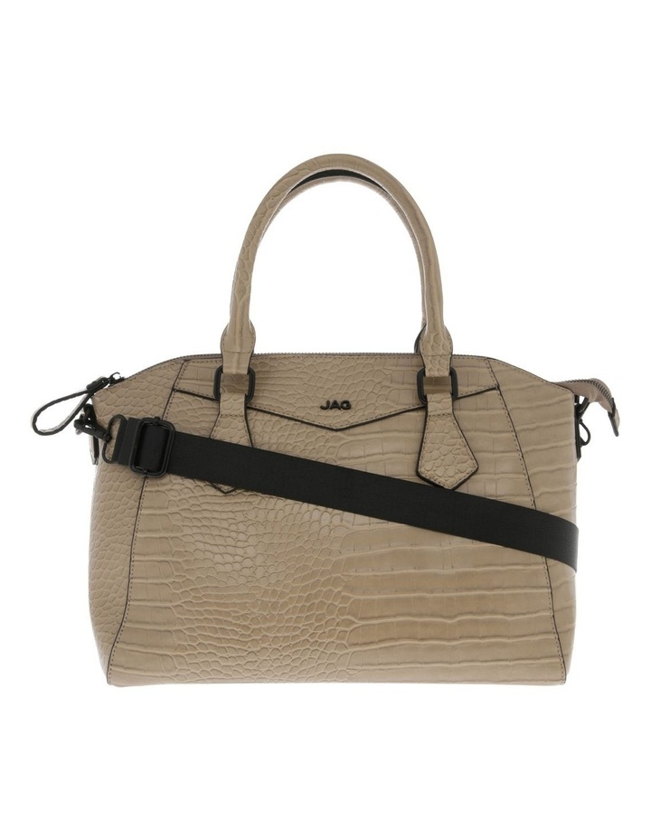 Hazel Double-Handle Tote Bag in Taupe image 1