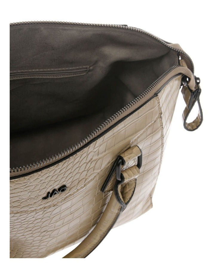 Hazel Double-Handle Tote Bag in Taupe image 4