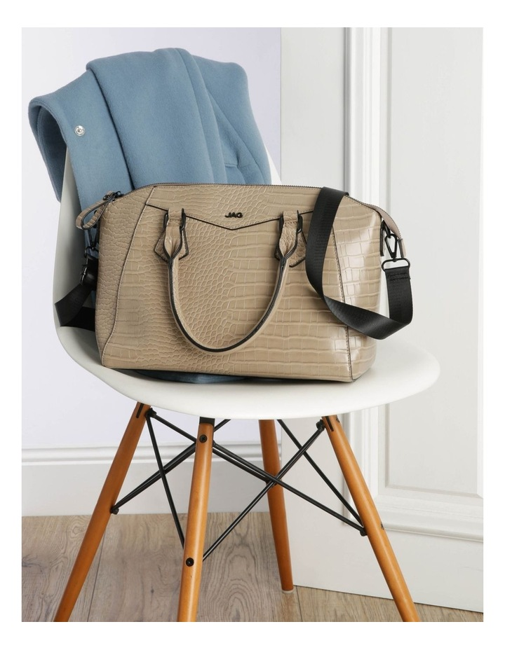 Hazel Double-Handle Tote Bag in Taupe image 5