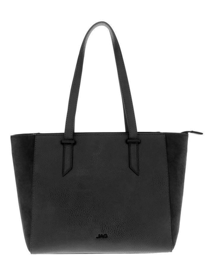 Presley Double-Handle Black Tote Bag image 1