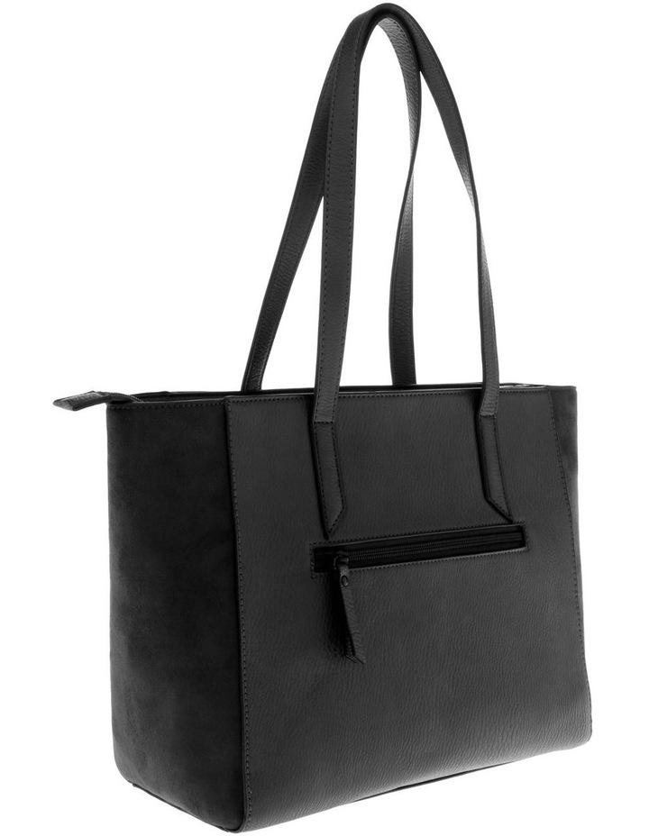 Presley Double-Handle Black Tote Bag image 2