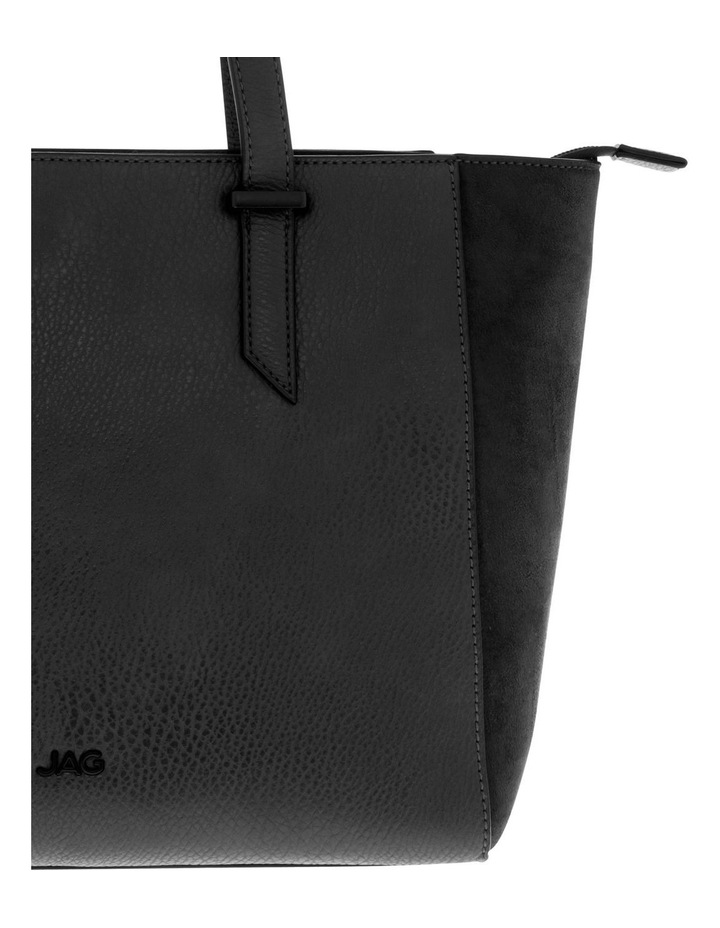 Presley Double-Handle Black Tote Bag image 3
