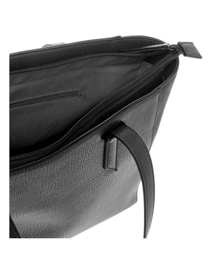 Presley Double-Handle Black Tote Bag image 4