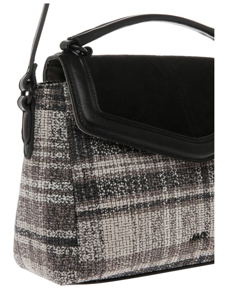 Freya Flap-Over Tweed Satchel image 3