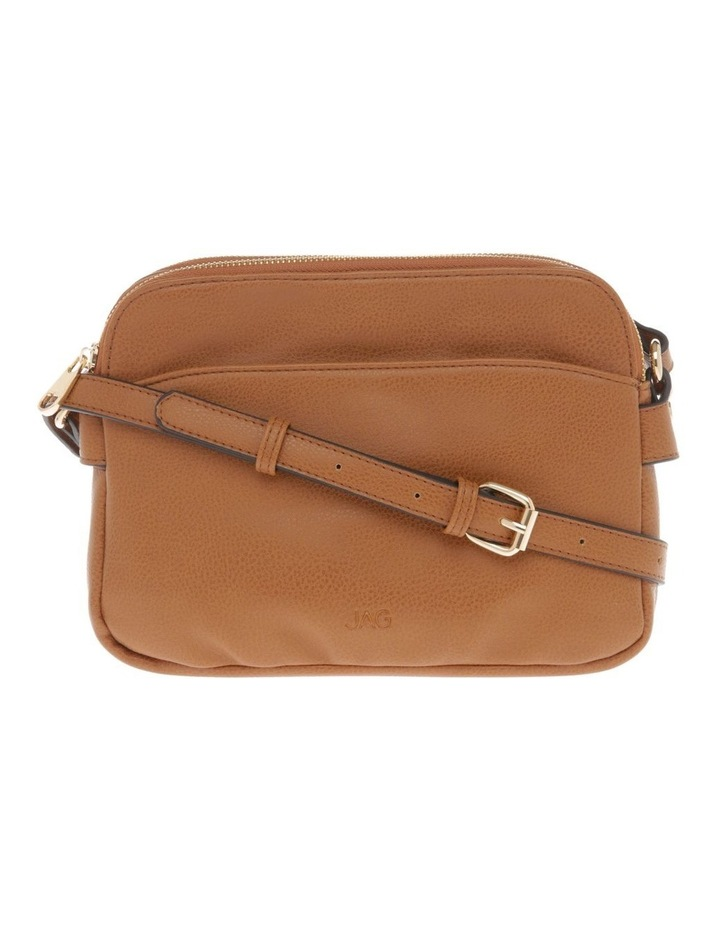 Jessie Zip-Top Tan Crossbody Bag image 1