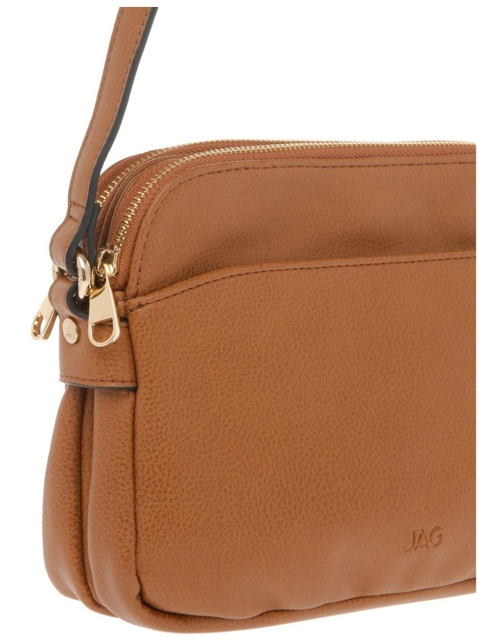 Jessie Zip-Top Tan Crossbody Bag image 3