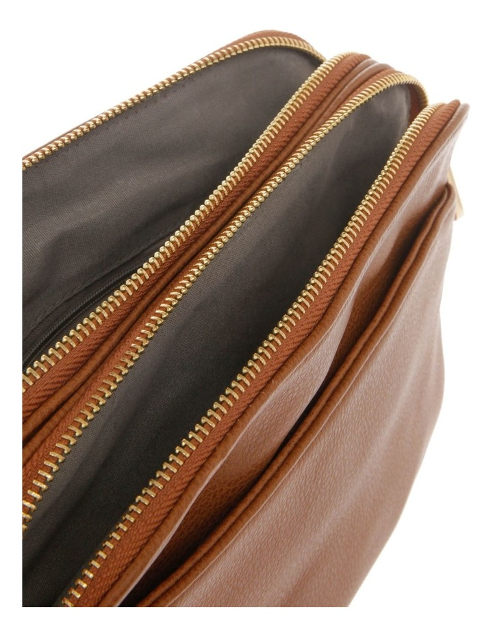 Jessie Zip-Top Tan Crossbody Bag image 4