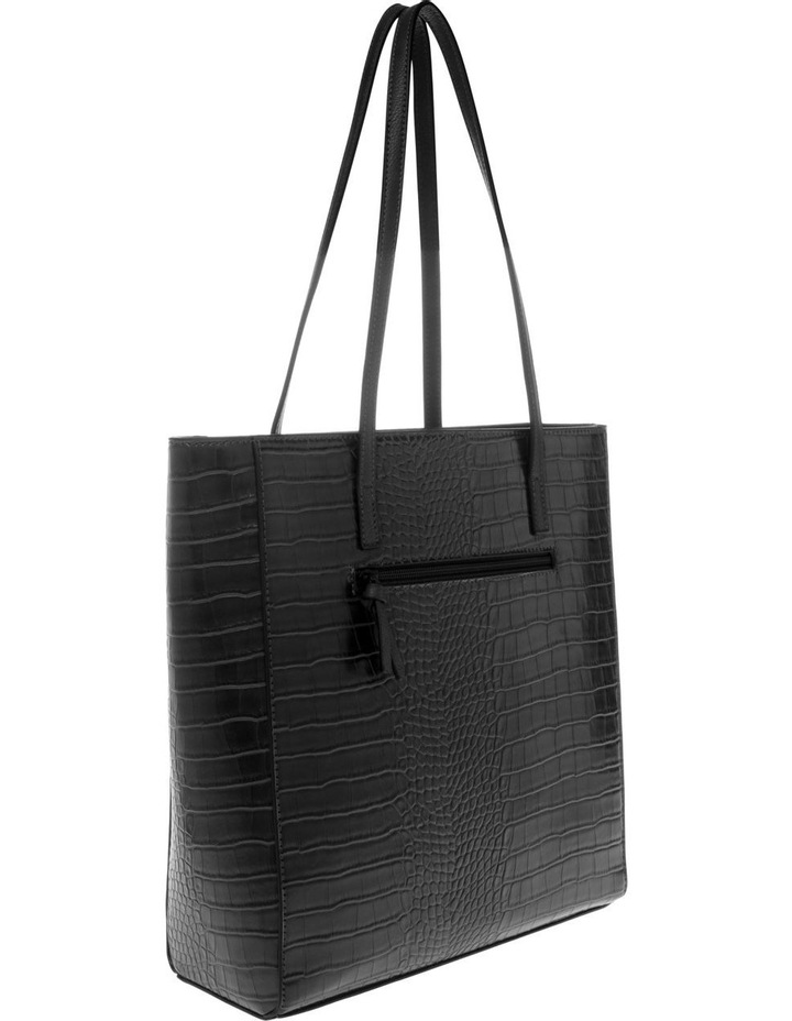 Lucille Zip-Top Black Tote Bag image 2