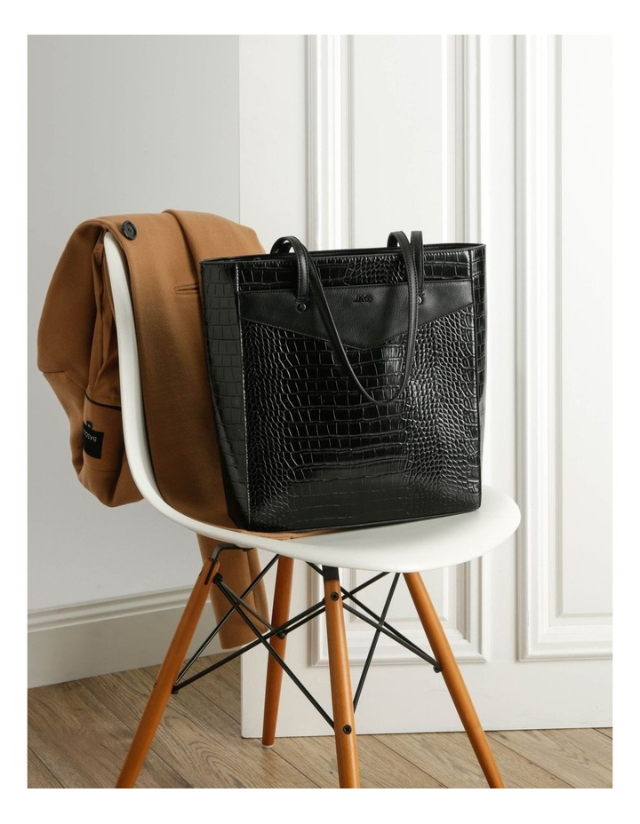 Lucille Zip-Top Black Tote Bag image 5