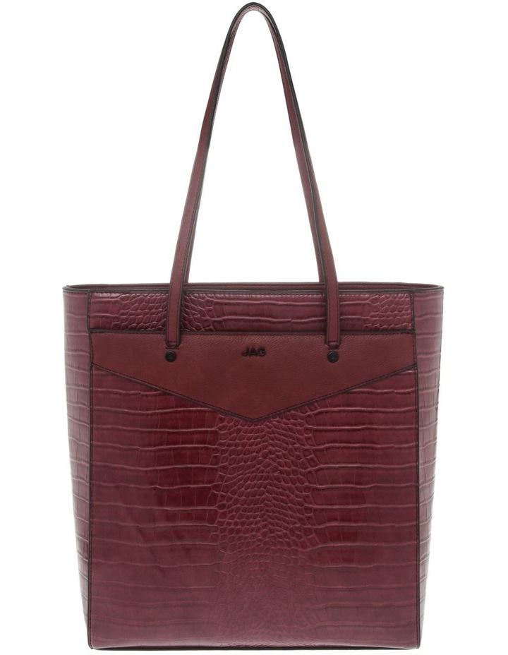 Lucille Zip-Top Burgundy Tote Bag image 1