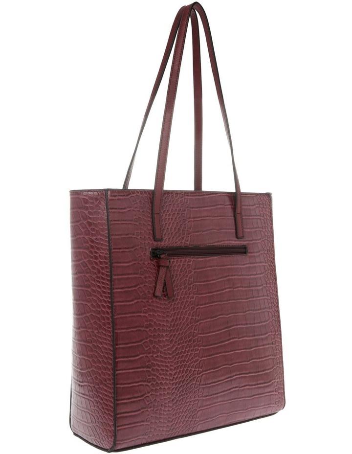 Lucille Zip-Top Burgundy Tote Bag image 2