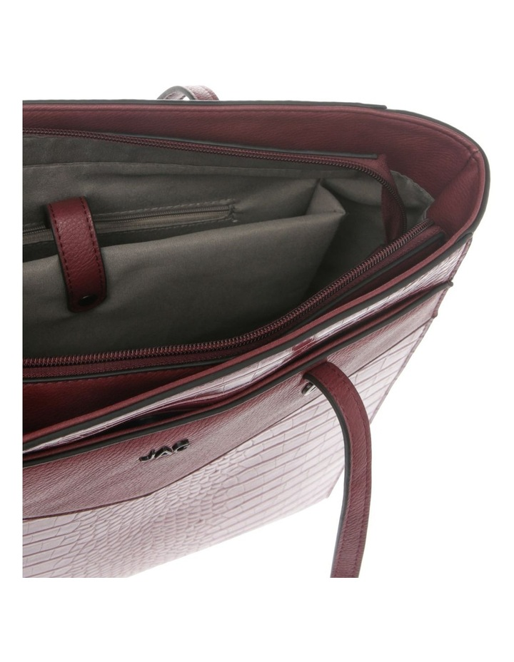 Lucille Zip-Top Burgundy Tote Bag image 4
