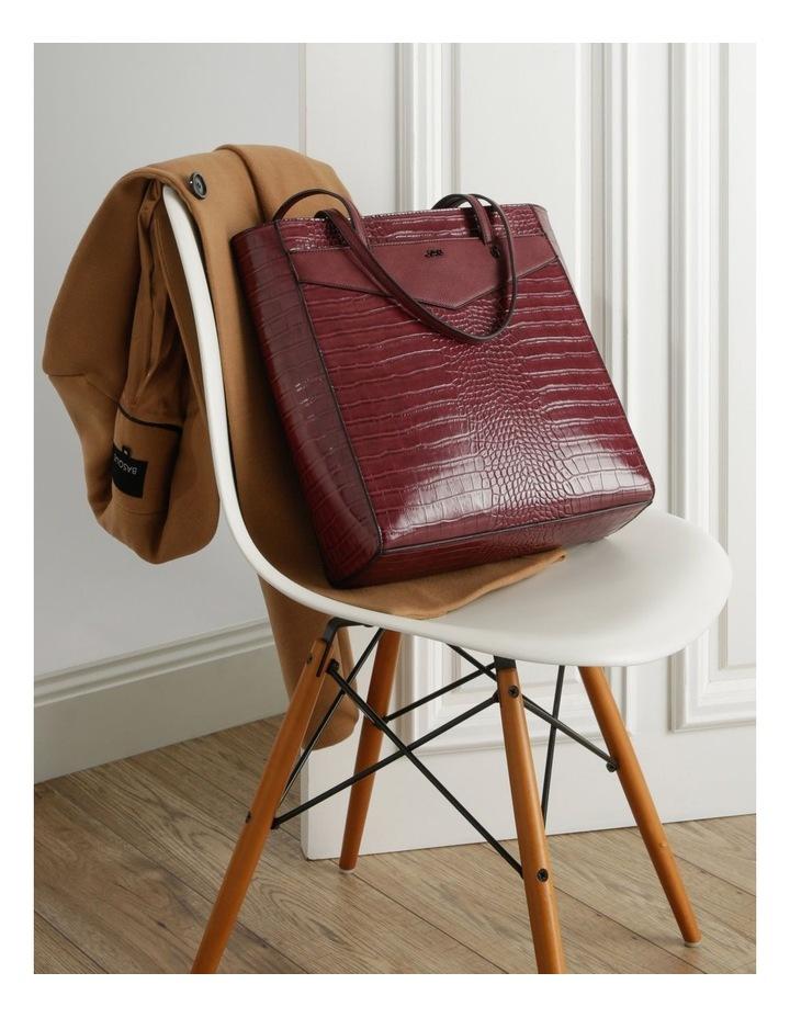Lucille Zip-Top Burgundy Tote Bag image 5