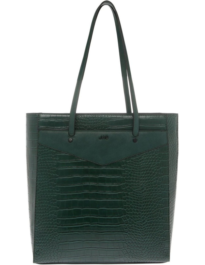 Lucille Zip-Top Green Tote Bag image 1