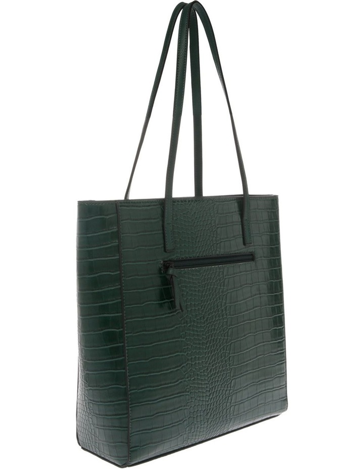 Lucille Zip-Top Green Tote Bag image 2