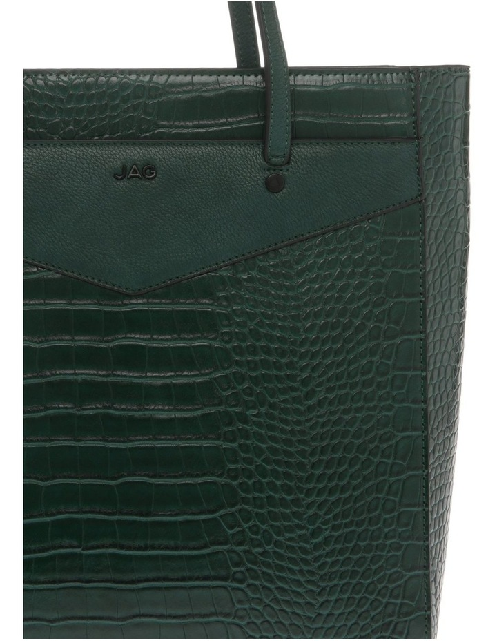 Lucille Zip-Top Green Tote Bag image 3