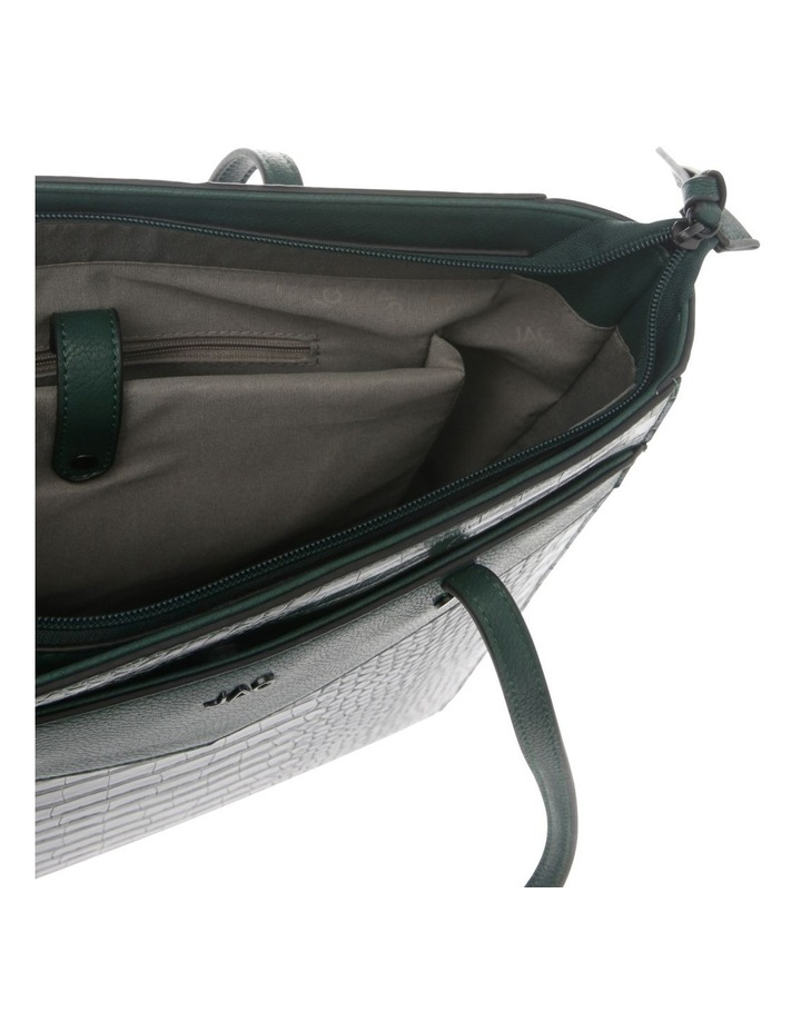 Lucille Zip-Top Green Tote Bag image 4