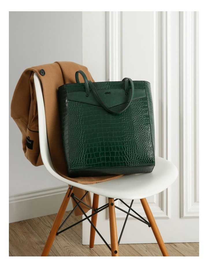 Lucille Zip-Top Green Tote Bag image 5