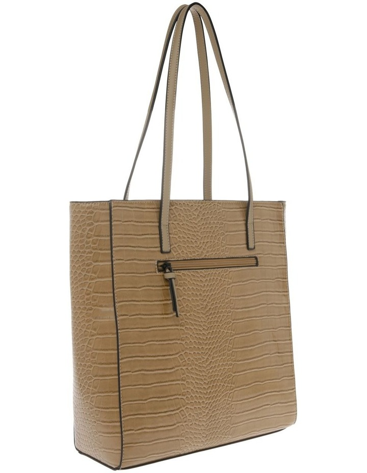 Lucille Zip-Top Tan Tote Bag image 2