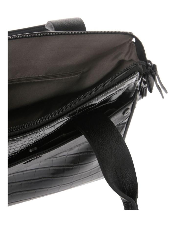 Lucille Zip-Top Black Satchel image 4