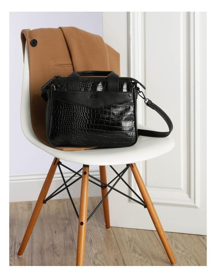 Lucille Zip-Top Black Satchel image 5