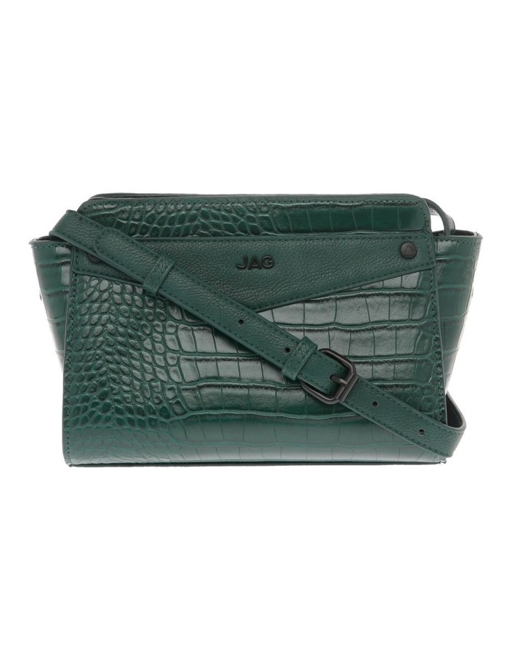 Lucille Zip-Top Green Crossbody Bag image 1