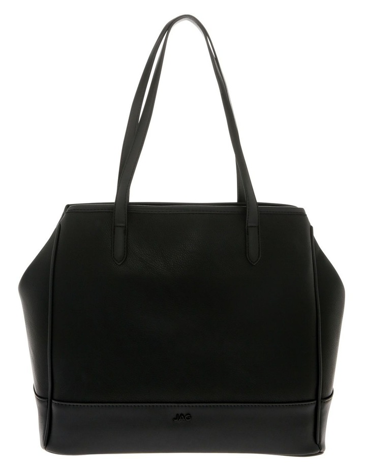 Lisa Black Double-Handle Tote Bag image 1