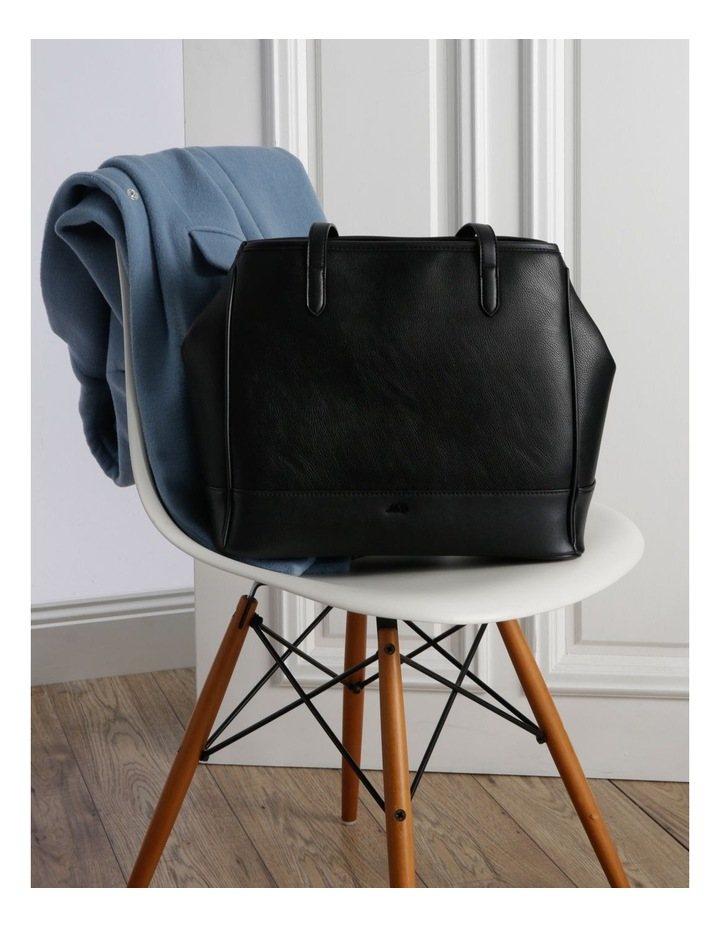 Lisa Black Double-Handle Tote Bag image 5