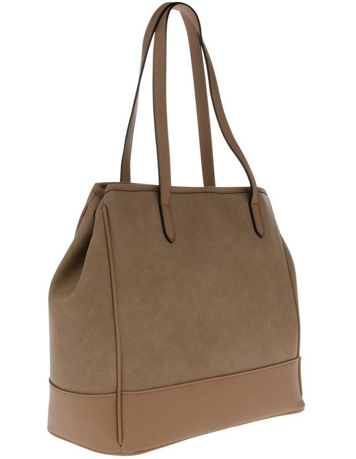 Lisa Camel Brown Double-Handle Tote Bag image 2