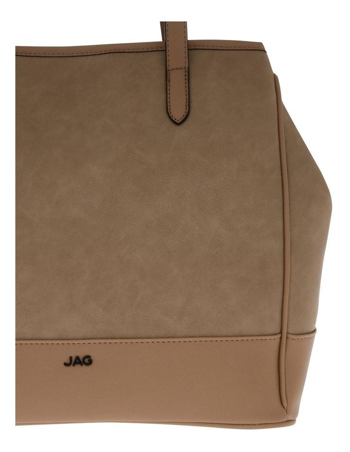 Lisa Camel Brown Double-Handle Tote Bag image 3