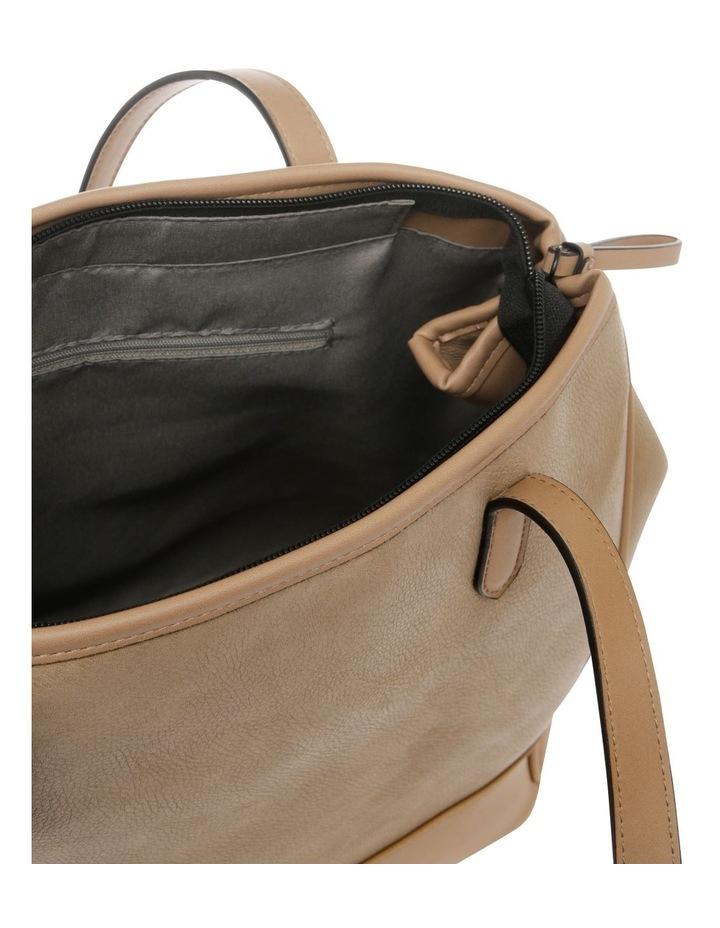 Lisa Camel Brown Double-Handle Tote Bag image 4
