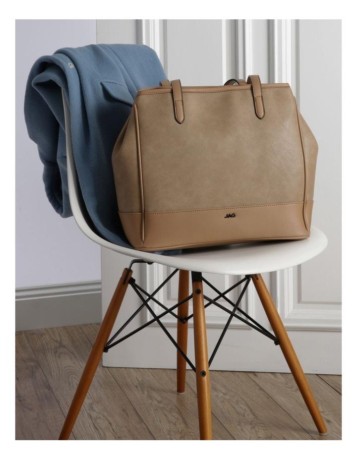 Lisa Camel Brown Double-Handle Tote Bag image 5