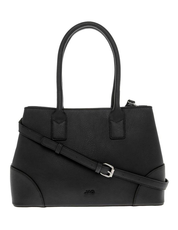 Behati Double-Handle Black Tote Bag image 1