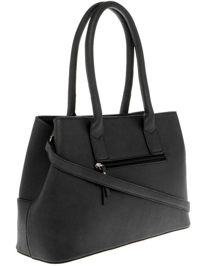 Behati Double-Handle Black Tote Bag image 2