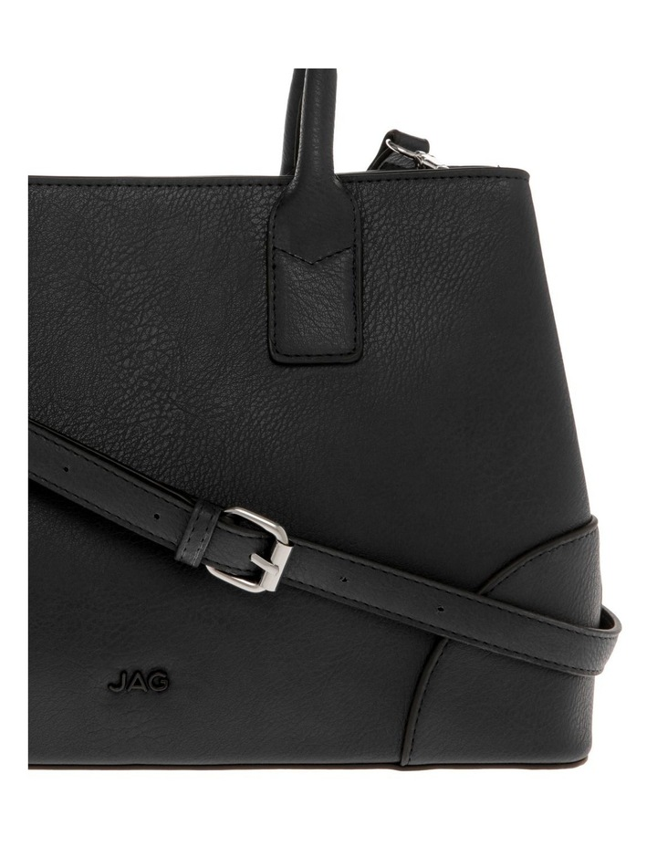 Behati Double-Handle Black Tote Bag image 3
