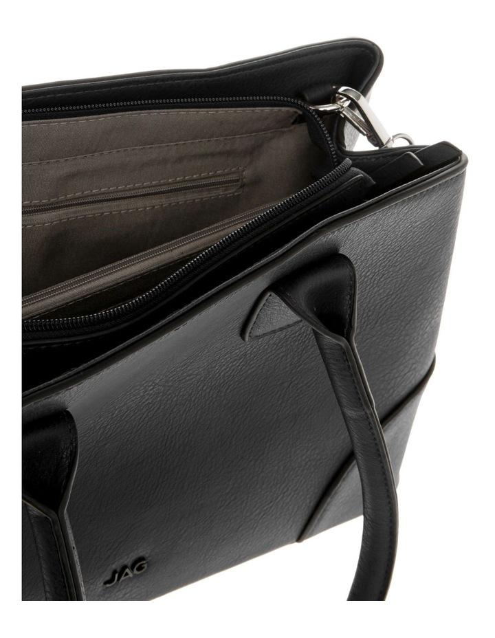 Behati Double-Handle Black Tote Bag image 4