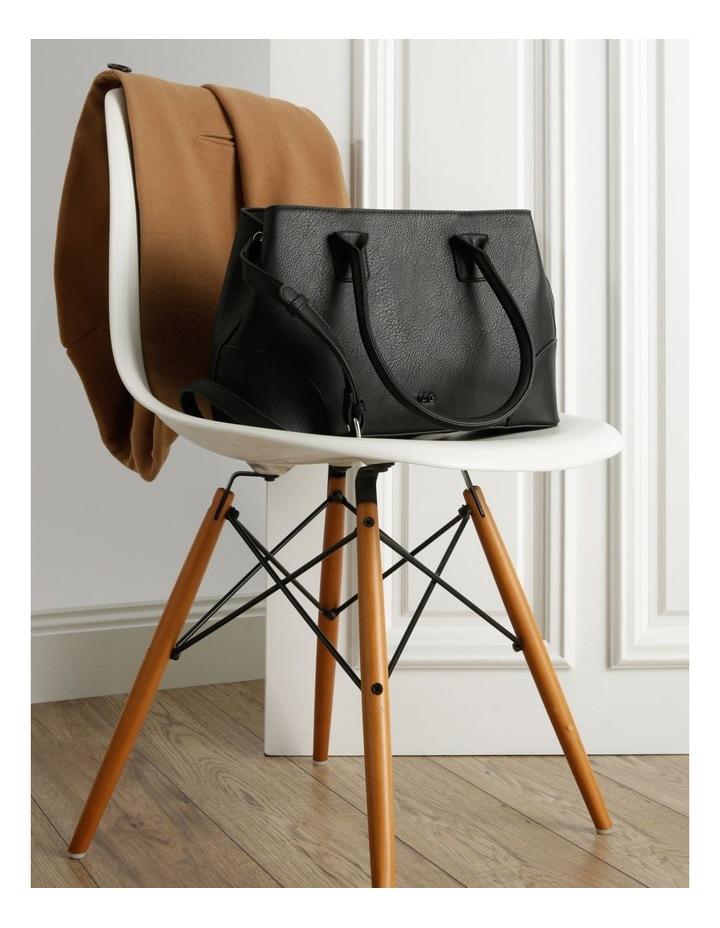 Behati Double-Handle Black Tote Bag image 5