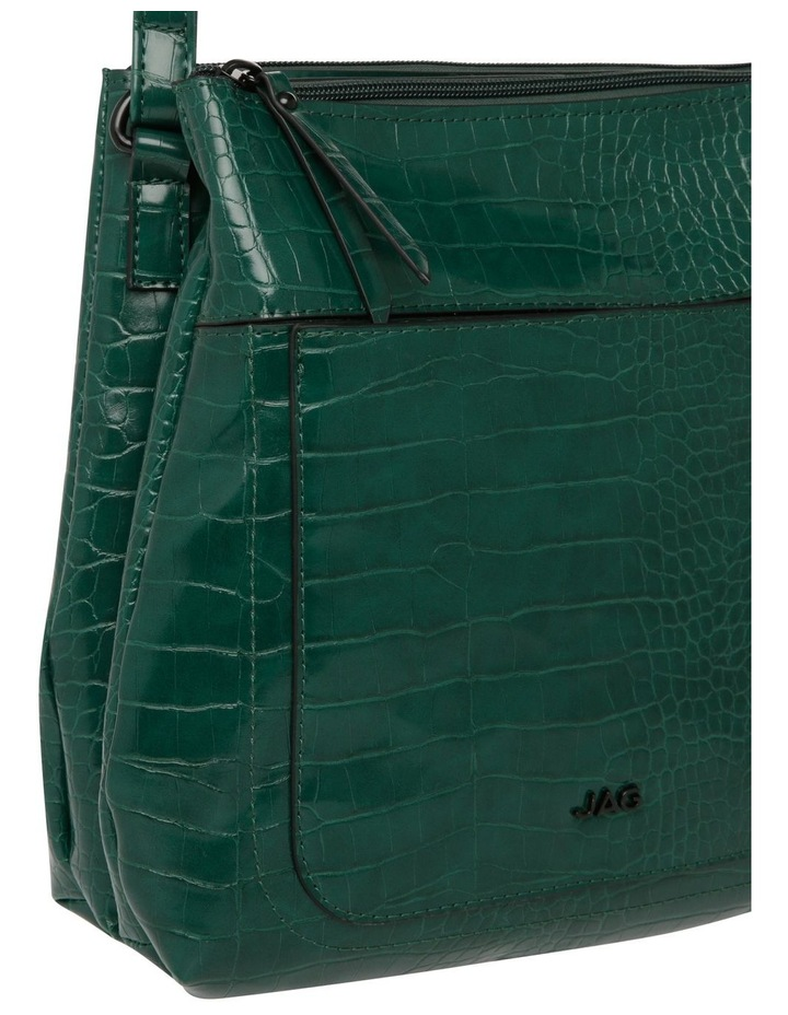 Samantha Croc Zip Top Crossbody Bag image 3