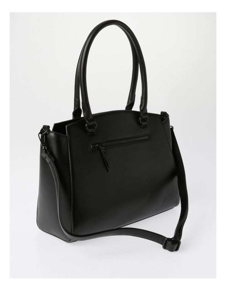 Lydia Double-Handle Tote Bag in Black image 2