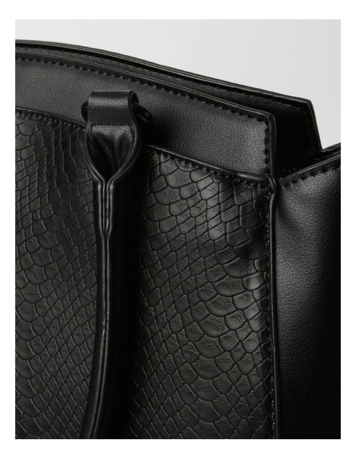 Lydia Double-Handle Tote Bag in Black image 4