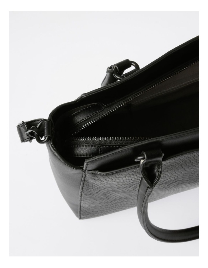 Lydia Double-Handle Tote Bag in Black image 5