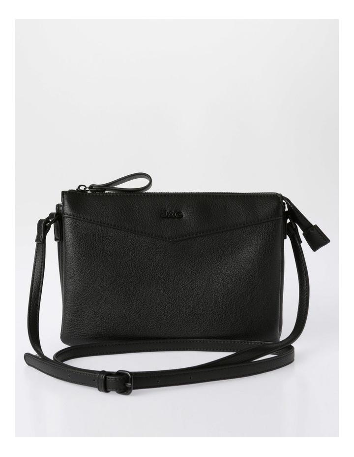 Khloe Zip-Top Crossbody Bag in Black image 1