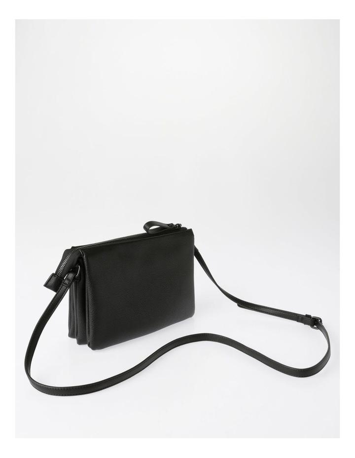Khloe Zip-Top Crossbody Bag in Black image 2