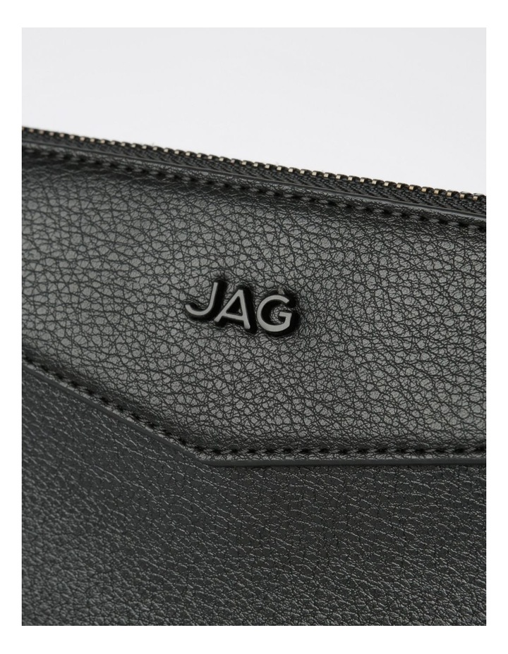 Khloe Zip-Top Crossbody Bag in Black image 4