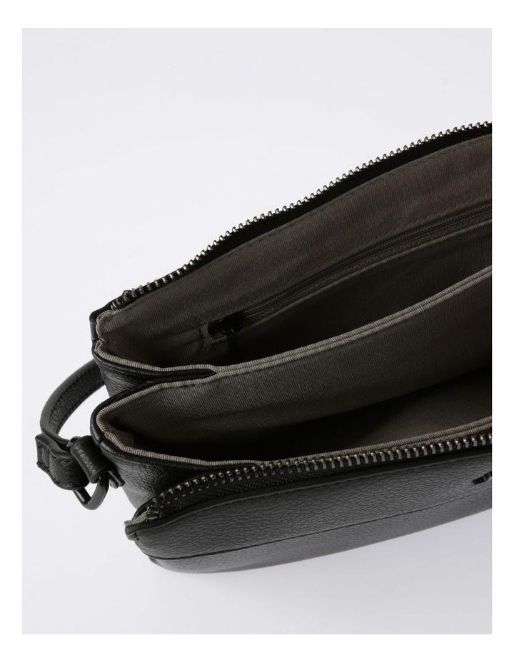 Khloe Zip-Top Crossbody Bag in Black image 5
