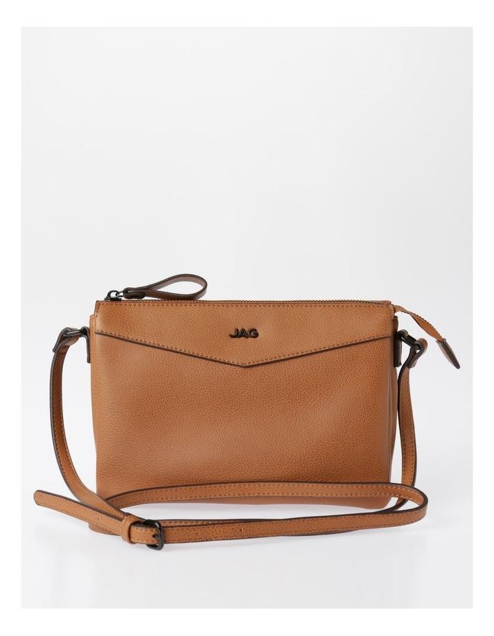 Khloe Zip-Top Crossbody Bag in Camel Brown image 1
