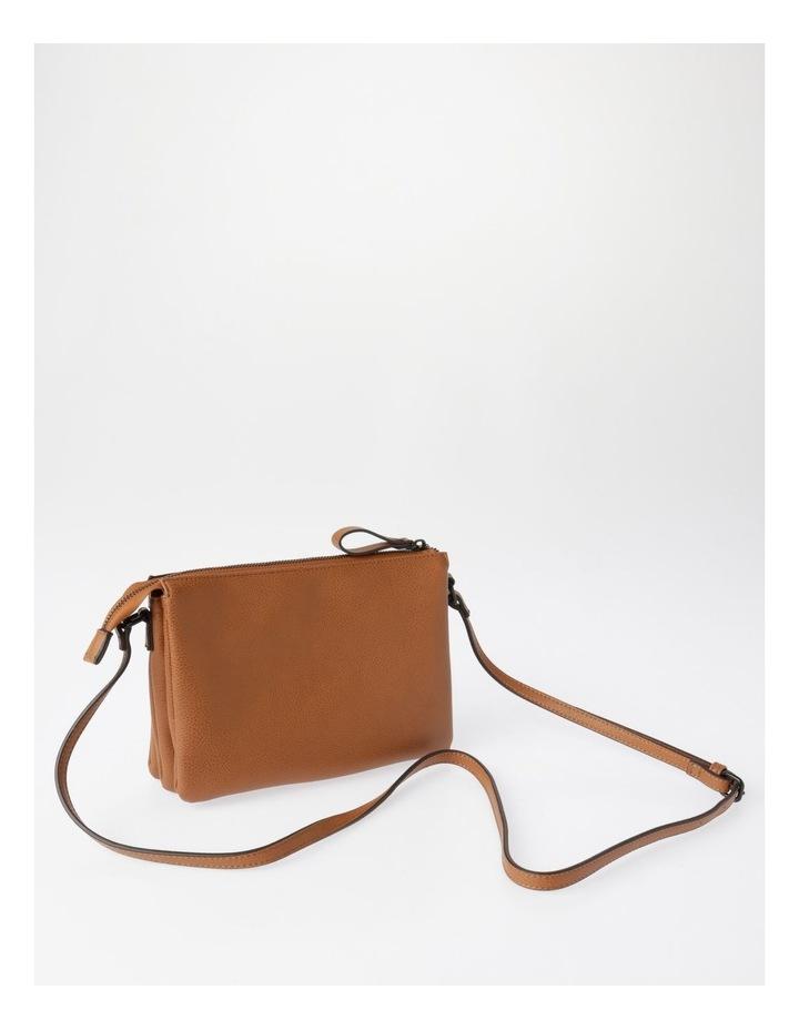 Khloe Zip-Top Crossbody Bag in Camel Brown image 2