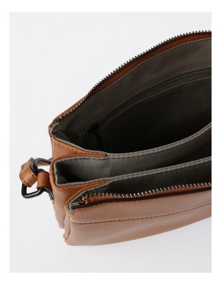 Khloe Zip-Top Crossbody Bag in Camel Brown image 5