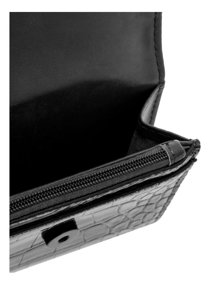 Lucille Flap-Over Black Wallet image 3