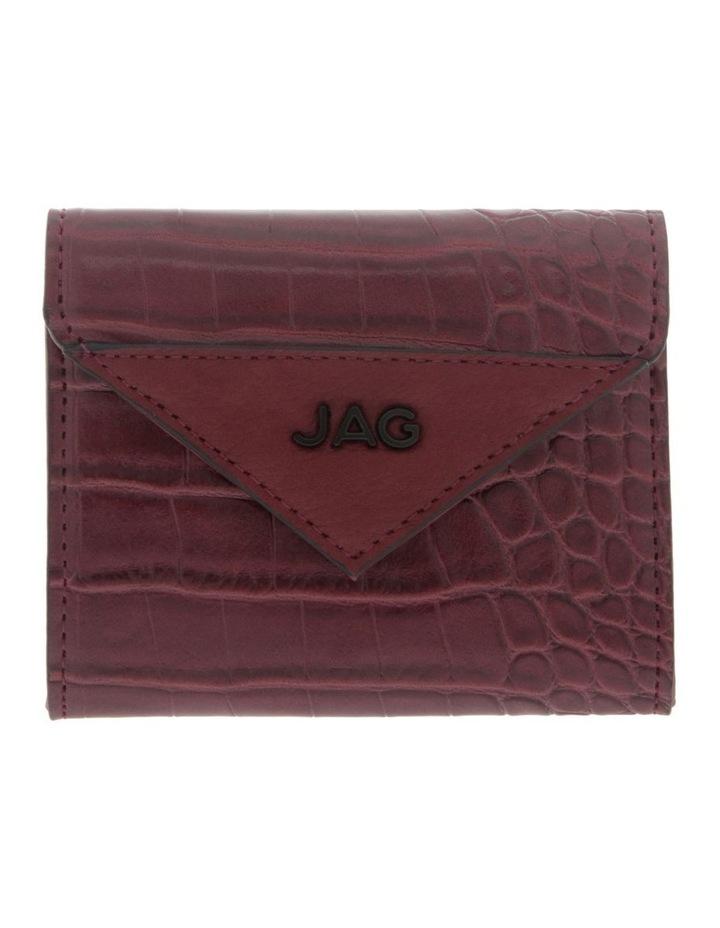 Lucille Flap-Over Burgundy Wallet image 1